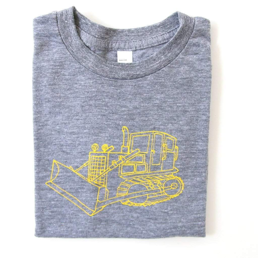 Bulldozer Short Sleeve Tee - Honey Bee Tees - 1