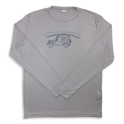 Canoe Ride Long Sleeve Adult Performance Tee