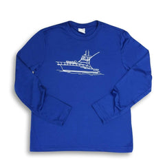 Deep Sea Long Sleeve Performance Tee - Honey Bee Tees - 2