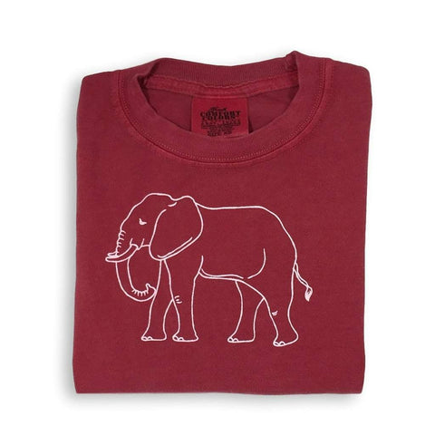 Elephant Crimson Short Sleeve Tee