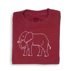 Elephant Crimson Short Sleeve Tee - Honey Bee Tees - 1
