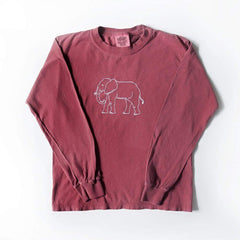 Elephant Long Sleeve Tee - Honey Bee Tees - 2