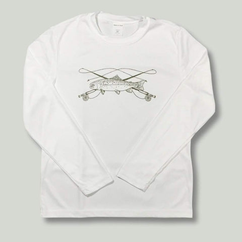 Fly Fishing Adult Long Sleeve Performance Tee