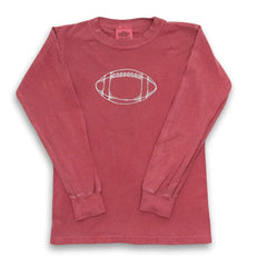 Football Long Sleeve Tee - Honey Bee Tees - 4