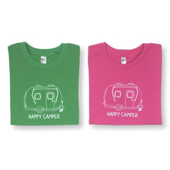 Happy Camper Short Sleeve Tee - Honey Bee Tees - 1
