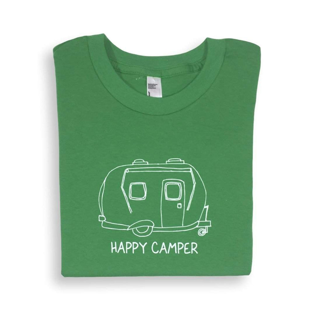 Happy Camper Short Sleeve Tee - Honey Bee Tees - 2
