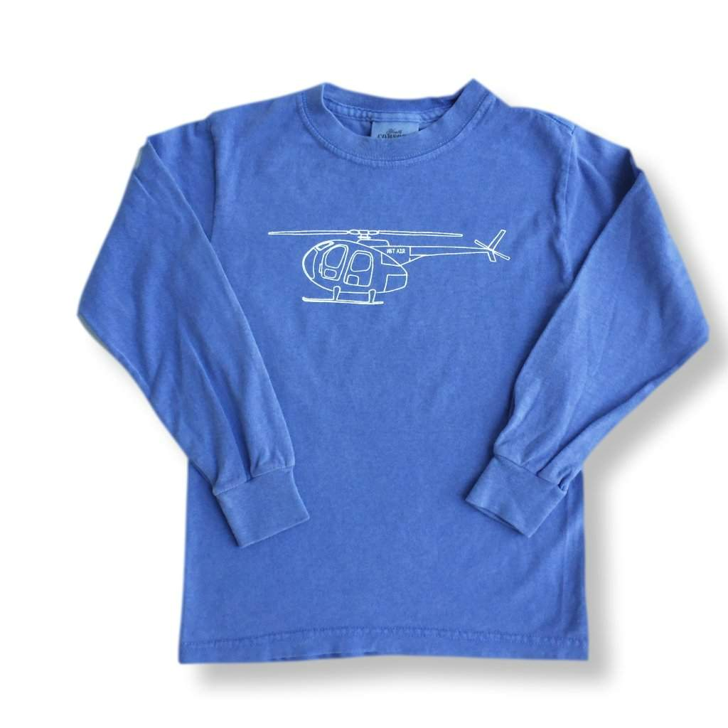 Helicopter Long Sleeve Tee - Honey Bee Tees - 2