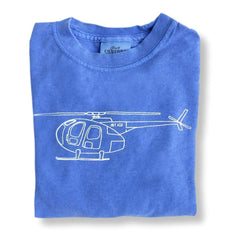 Helicopter Short Sleeve Tee - Honey Bee Tees - 1