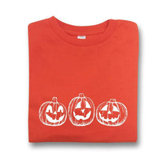 Jack-o-lantern Orange Short Sleeve Tee - Honey Bee Tees - 1