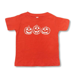Jack-o-lantern Orange Short Sleeve Tee - Honey Bee Tees - 2