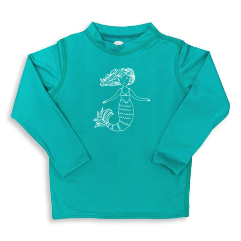 Mermaid Long Sleeve Rash Guard UPF 50+