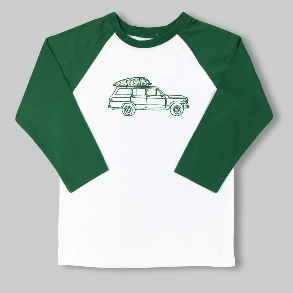 Oh Christmas Tree Raglan Tee - Honey Bee Tees