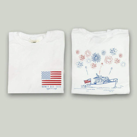 Patriotic Boat Adult Tee