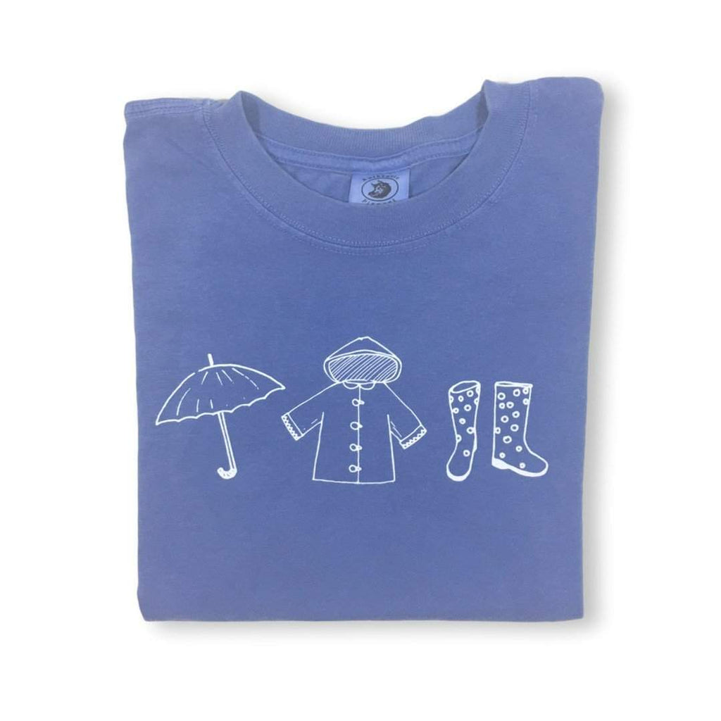 Rainy Day Short Sleeve Tee - Honey Bee Tees - 1