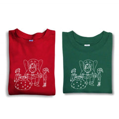 Santa and Elves Long Sleeve Tee - Honey Bee Tees - 1