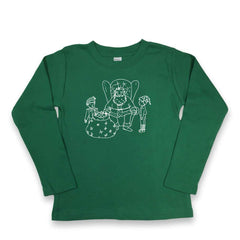 Santa and Elves Long Sleeve Tee - Honey Bee Tees - 3