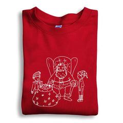 Santa and Elves Long Sleeve Tee - Honey Bee Tees - 4