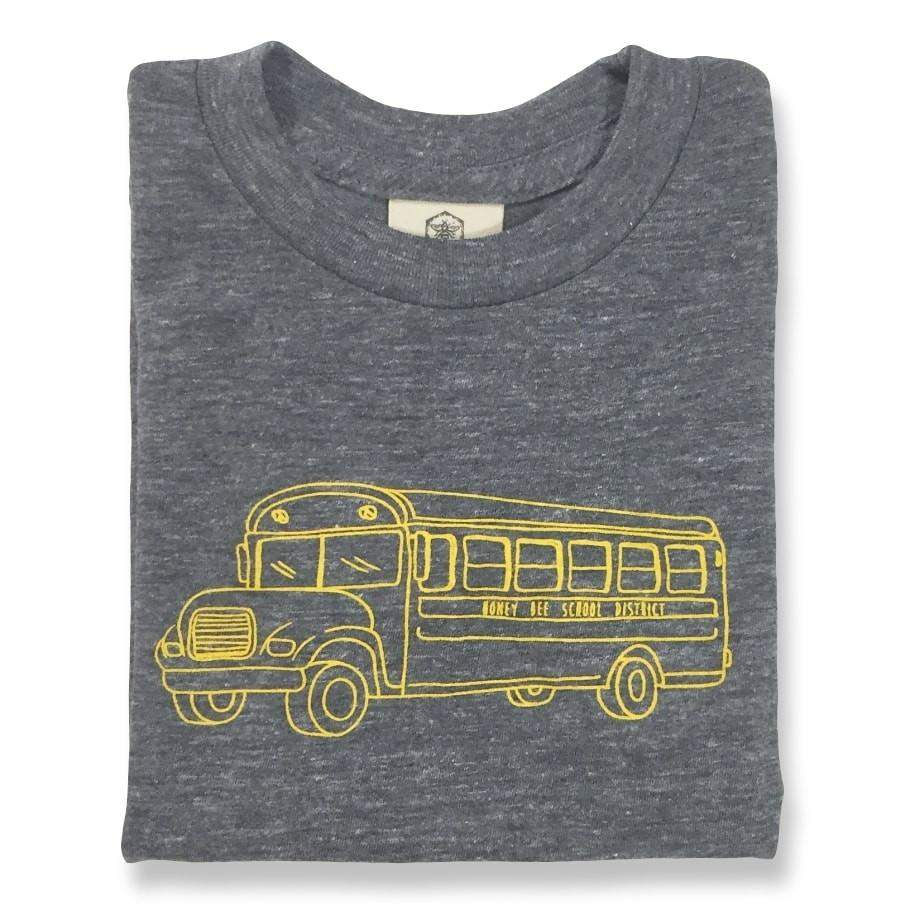 Shirts - School Bus Grey Short Sleeve Tee