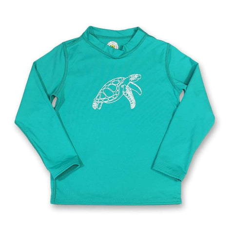 Sea Turtle Long Sleeve Rash Guard UPF 50+