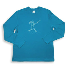 Softball Long Sleeve Performance Tee - Honey Bee Tees - 2