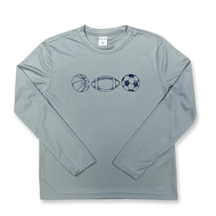 Sports Long Sleeve Performance Tee - Honey Bee Tees - 2
