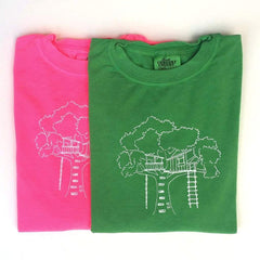 Tree House Long Sleeve Tee - Honey Bee Tees - 1