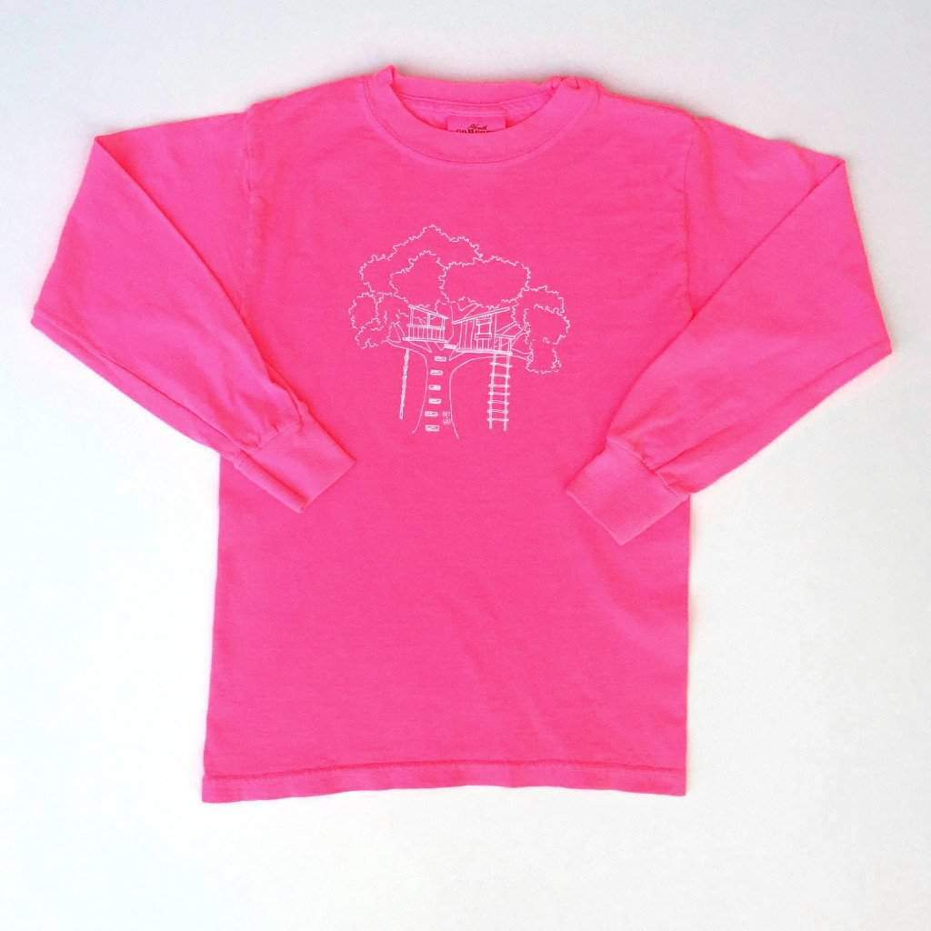 Tree House Long Sleeve Tee - Honey Bee Tees - 2