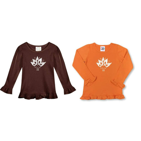 Turkey Long Sleeve Ruffle Tee