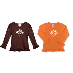 Turkey Long Sleeve Ruffle Tee - Honey Bee Tees - 1