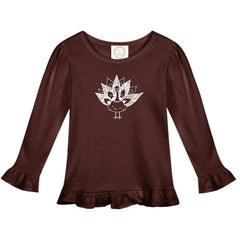 Turkey Long Sleeve Ruffle Tee - Honey Bee Tees - 2