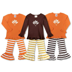 Turkey Long Sleeve Ruffle Tee - Honey Bee Tees - 5