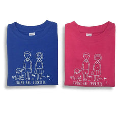 Twins Short Sleeve Tee - Honey Bee Tees - 1