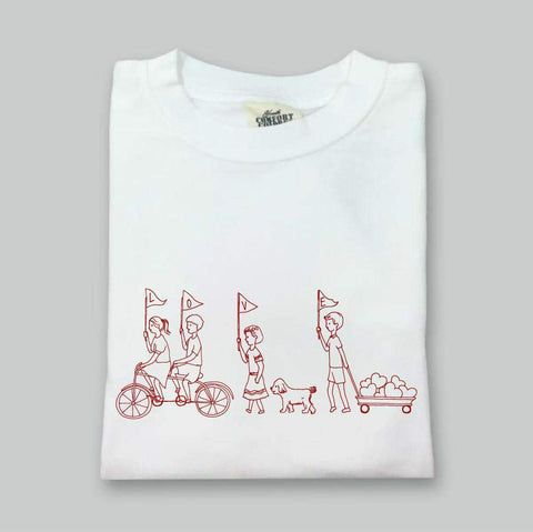 Valentine's Parade White Long Sleeve Tee