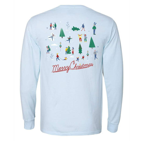 Skaters on Ice Adult Long Sleeve Tee