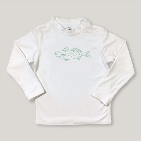Speckled Trout Long Sleeve Rash Guard UPF 50+