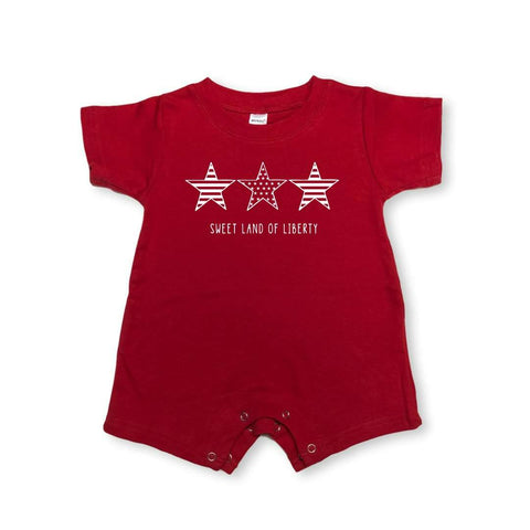 Stars-n-Stripes Short Sleeve Infant Romper