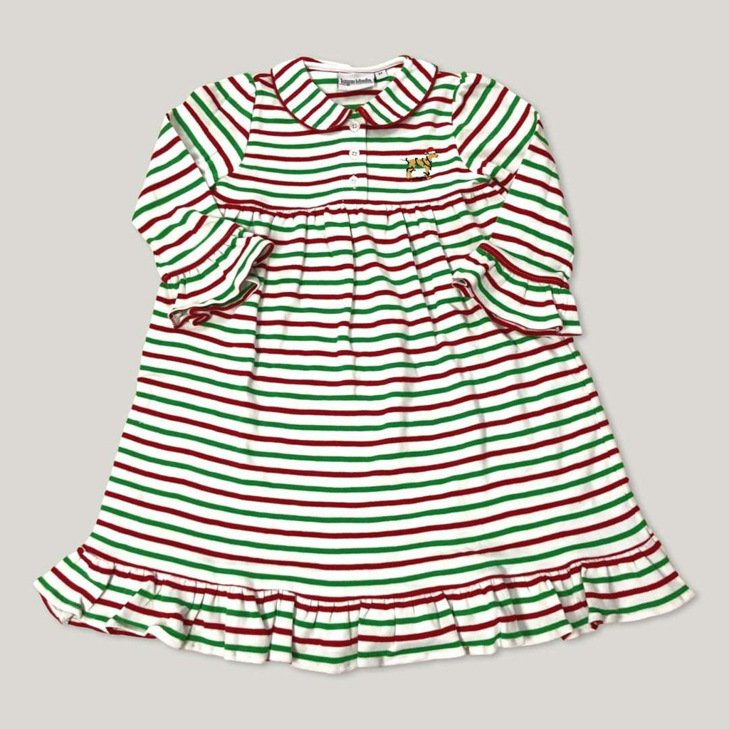 Jingle Dog Striped Button Night Gown