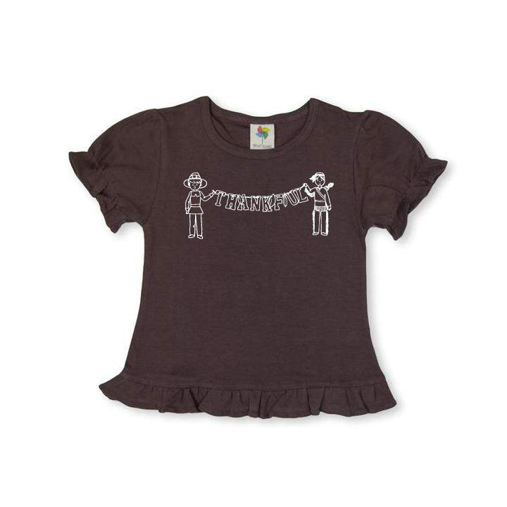 Thankful Short Sleeve Ruffle Tee
