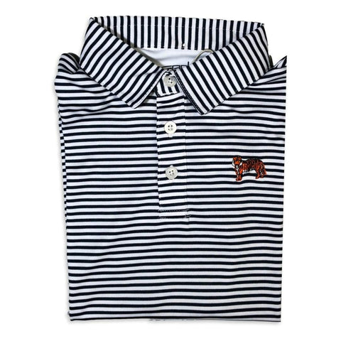 Tiger Navy Striped Polo