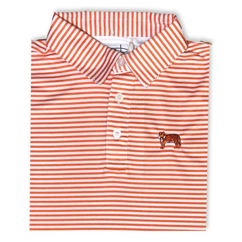 Tiger Orange Striped Polo
