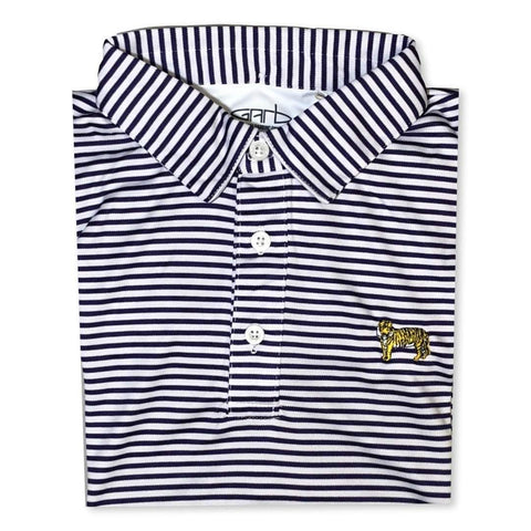 Tiger Purple Striped Polo