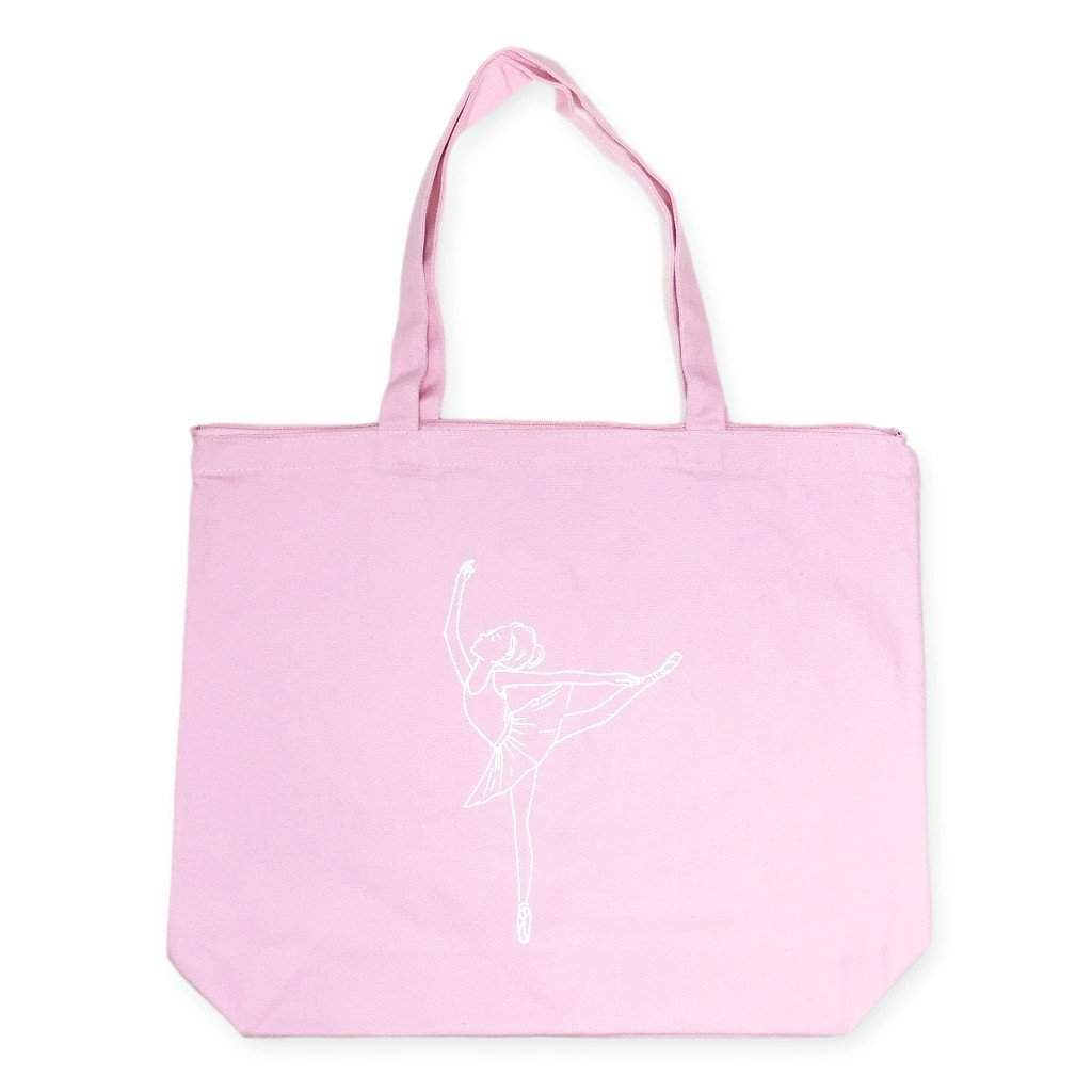 Ballerina Zipper Tote Bag - Honey Bee Tees - 1