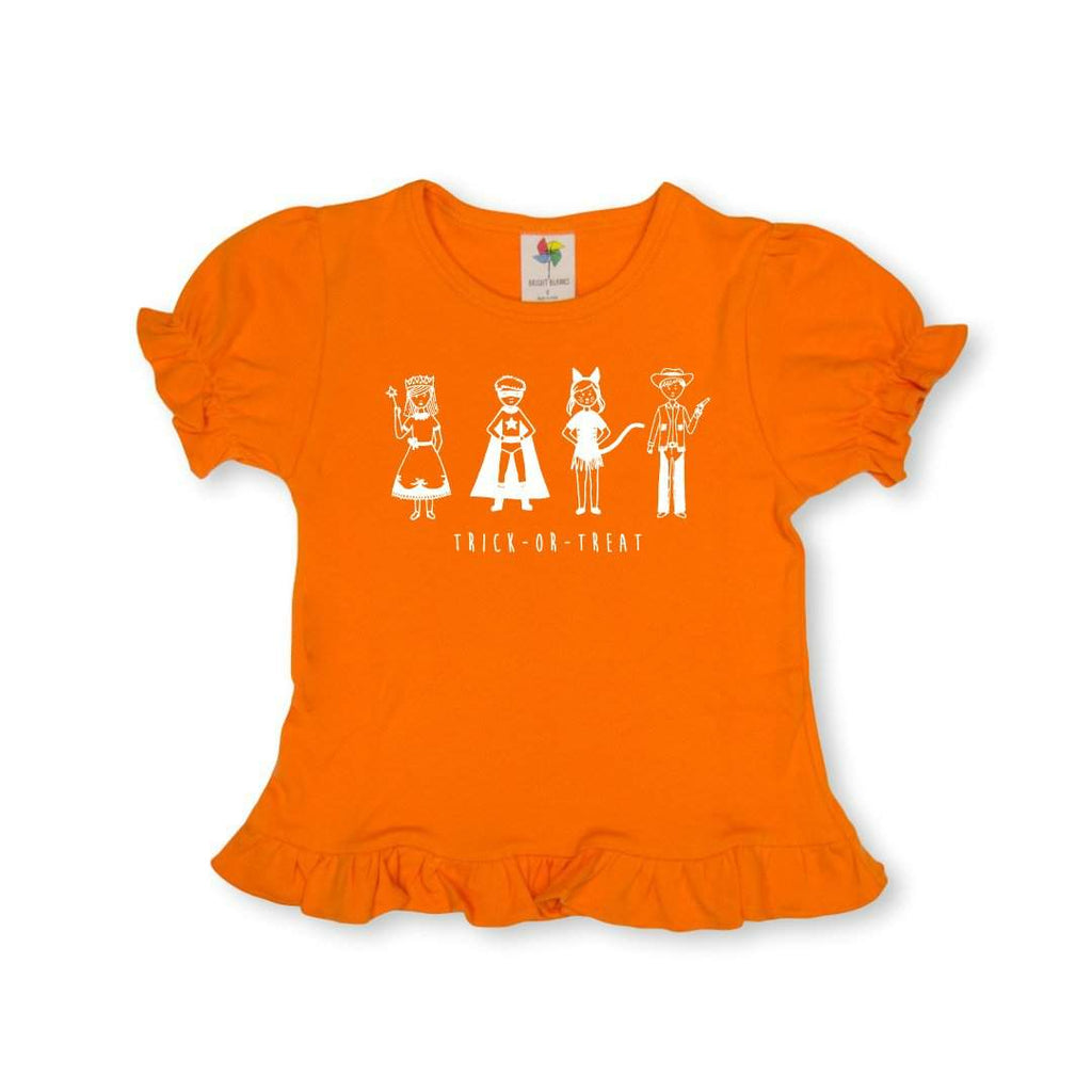 Trick or Treat Short Sleeve Ruffle Tee