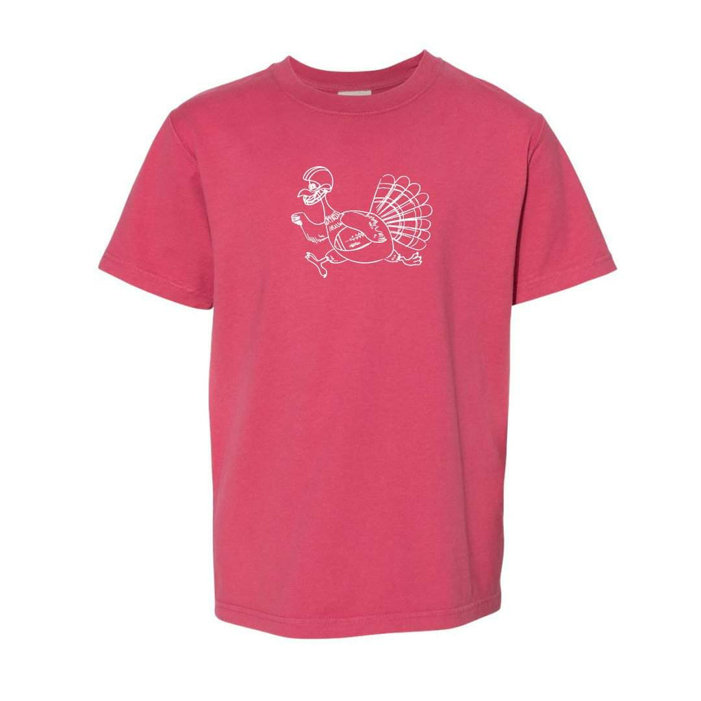 Turkey with Football Short Sleeve Tee
