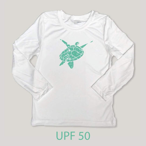 Sea Turtle Long Sleeve Performance UPF 50 Tee