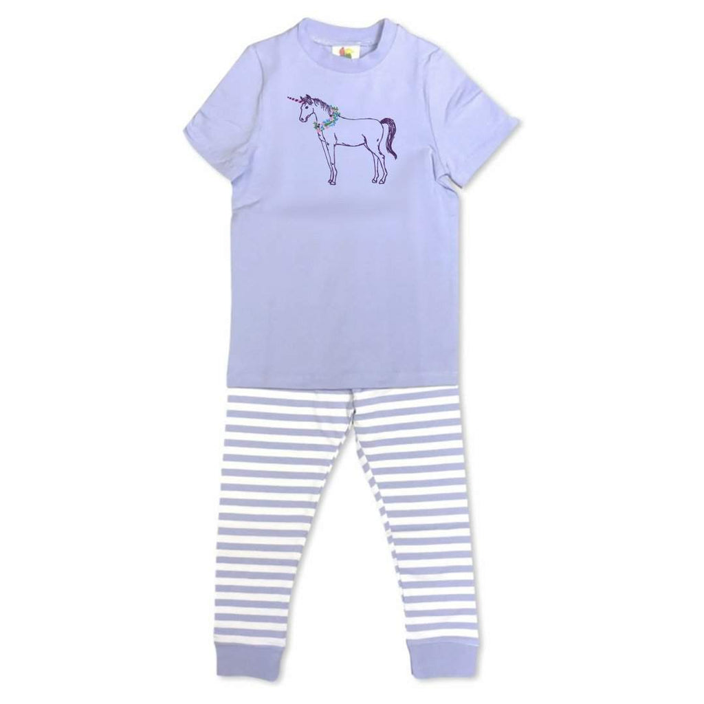 Short Sleeve Unicorn Pajamas