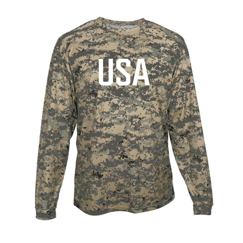 USA Camo Long Sleeve Performance Tee