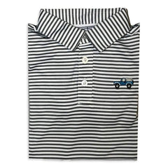 Vintage 4x4 Charcoal Striped Polo
