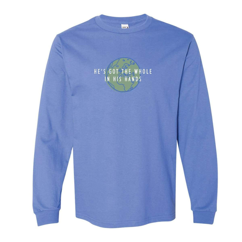 Adult Whole World Long Sleeve Tee