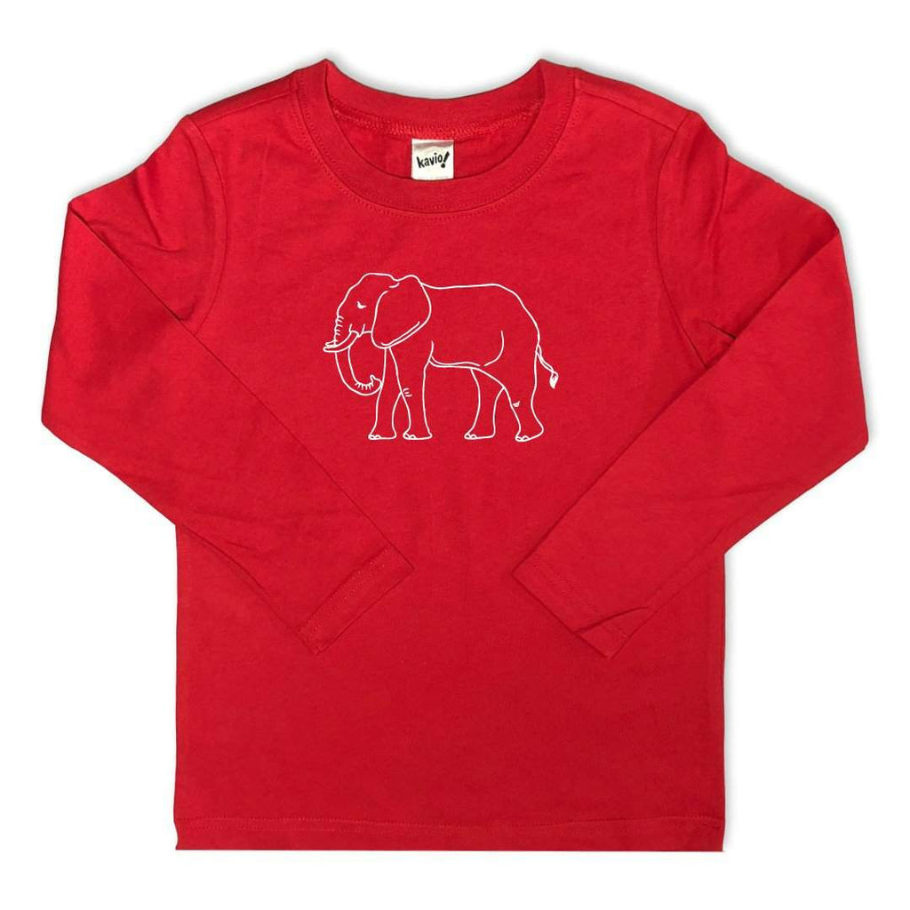 Elephant Long Sleeve Tee Kavio